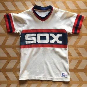 VTG | 80s Chicago White Sox Sand-Knit Jersey Tee